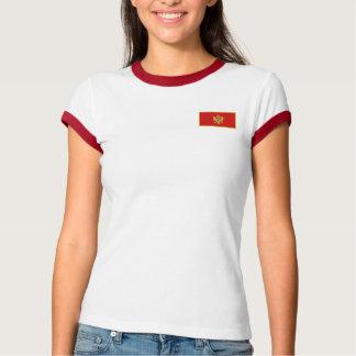 モンテネグロの旗 + 地図のTシャツ Tシャツ