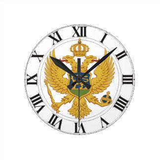 モンテネグロの紋章付き外衣 ラウンド壁時計