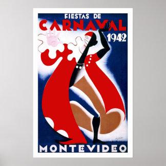 モンテビデオウルグアイのヴィンテージ旅行 ポスター