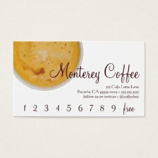 モンテレーのコーヒー飲み物のロイヤリティ/パンチカード 名刺
