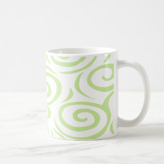 モンテレーの渦巻のマグエンドウ豆 コーヒーマグカップ