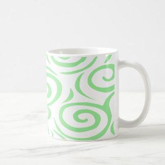モンテレーの渦巻のマグコケ コーヒーマグカップ