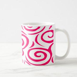 モンテレーの渦巻のマグFushia コーヒーマグカップ