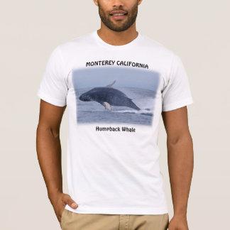 モンテレーカリフォルニアのザトウクジラのTシャツ Tシャツ
