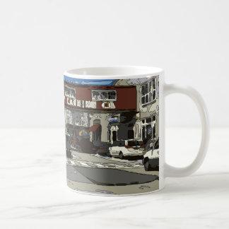 モンテレー湾の缶詰工場の列の絵画 コーヒーマグカップ