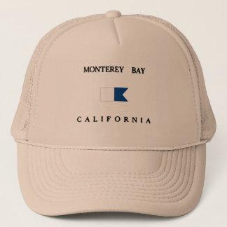 モンテレー湾カリフォルニアアルファ飛び込みの旗 キャップ
