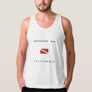 モンテレー湾カリフォルニアスキューバ飛び込みの旗 タンクトップ
