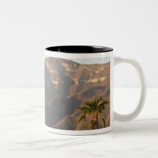 モンテレー、メキシコの近くの砂漠牧場景色 ツートーンマグカップ