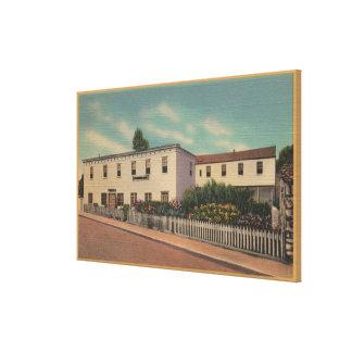 モンテレー、ロバート・ルイス・スティーヴンソンの家カリフォルニア- キャンバスプリント