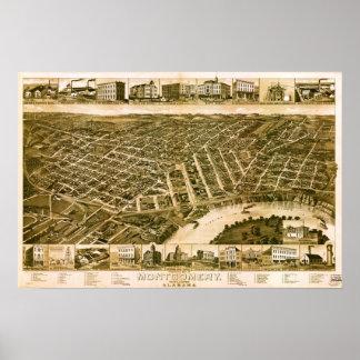 モントゴメリーアラバマ1887年 ポスター