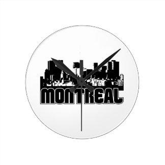 モントリオールのスカイライン ラウンド壁時計