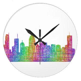 モントリオールのスカイライン ラージ壁時計