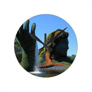 モントリオールの植物園 ラウンド壁時計
