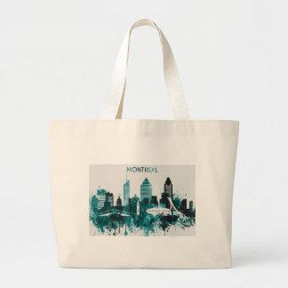 モントリオール都市スカイライン ラージトートバッグ