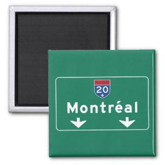 モントリオール、カナダの交通標識 マグネット