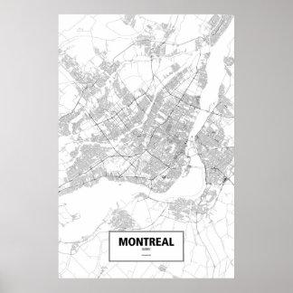 モントリオール、ケベック(白の黒) ポスター