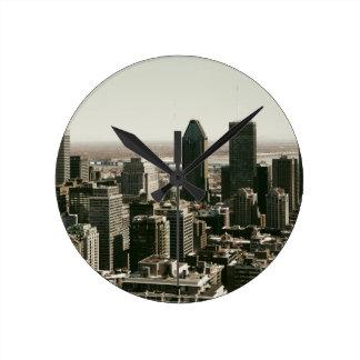モントリオール ラウンド壁時計