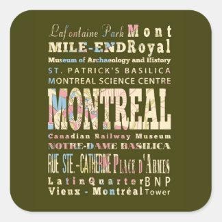 モントリオール、Québec.の魅力及び有名な場所 スクエアシール