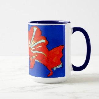 モンドリアンのアマリリスのマグ マグカップ