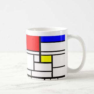 モンドリアンのコップ コーヒーマグカップ