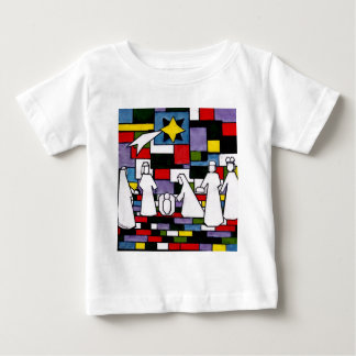 モンドリアンの出生- De Stijl - Neoplasticism ベビーTシャツ