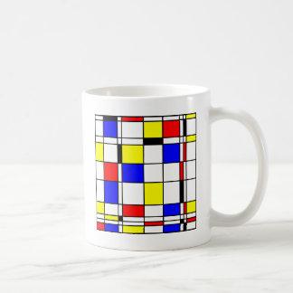 モンドリアンの芸術のスタイル コーヒーマグカップ