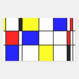 モンドリアンの芸術のスタイル 長方形シール