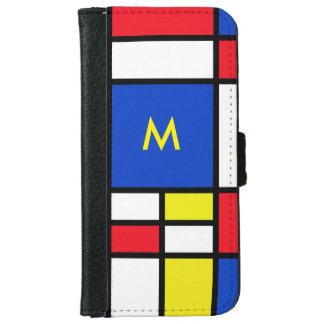 モンドリアンの赤く黄色く青いiPhone6ケース iPhone 6/6s ウォレットケース