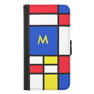 モンドリアンの赤く黄色く青いSamsung S5の箱 Galaxy S5 ウォレットケース