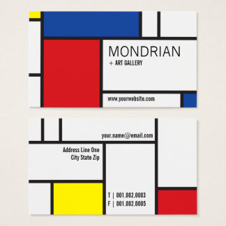 モンドリアンの近代美術のDe Stijl Minimalistの抽象芸術 名刺