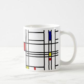 モンドリアンの近代美術 コーヒーマグカップ
