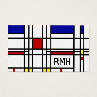 モンドリアンの近代美術 名刺
