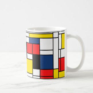 モンドリアンはここに飲みます! コーヒーマグカップ