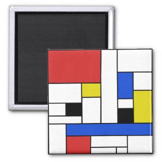 モンドリアンは2インチの正方形の磁石を並べます マグネット