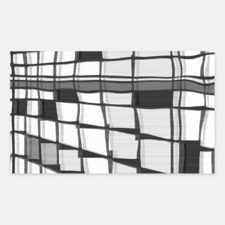 モンドリアンシティ7 長方形シール
