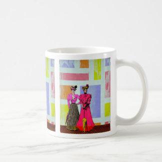 モンドリアンパターンのギブソン・ガール コーヒーマグカップ