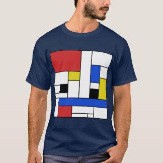 モンドリアンライン人暗いTシャツ Tシャツ