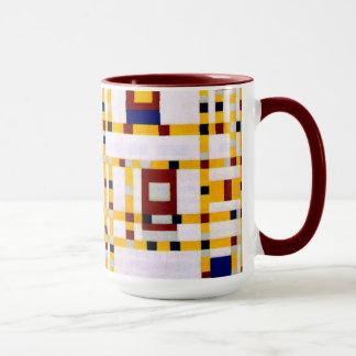 モンドリアン-ブロードウェイのブギウギWoogie マグカップ