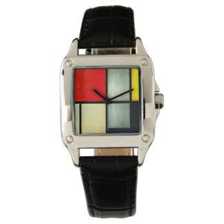 モンドリアン-劇的場面3 腕時計