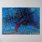 モンドリアン- Avond (夕べ)の赤い木 ポスター