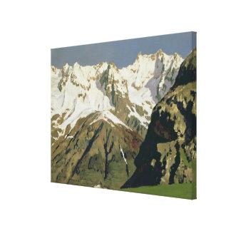 モンブラン山1897年 キャンバスプリント
