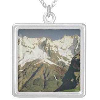 モンブラン山1897年 シルバープレートネックレス