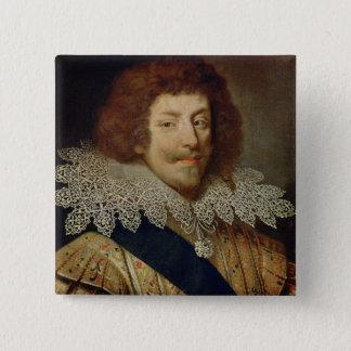 モンモランシーのアンリー公爵のポートレート 5.1CM 正方形バッジ