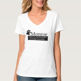 モンローSPCAの女性のV首のTシャツ Tシャツ