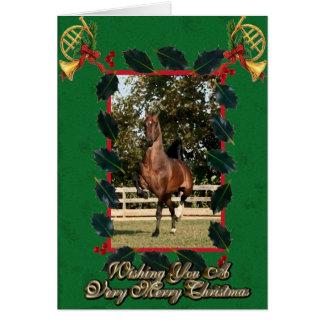 モーガンの馬のブランクのクリスマスカード カード