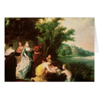 モーゼを発見しているファラオの娘 カード