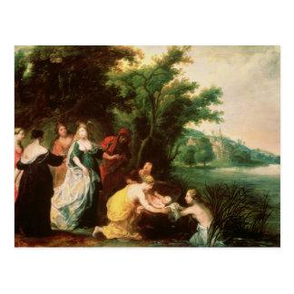 モーゼを発見しているファラオの娘 ポストカード