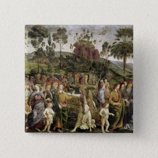 モーゼ、c.1481-83の旅行 5.1cm 正方形バッジ