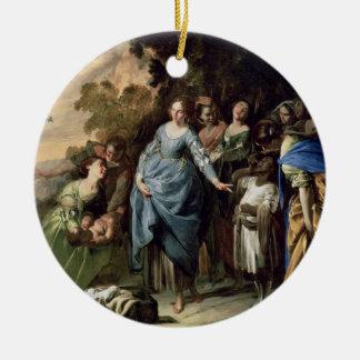 モーゼ、c.1650-56 (キャンバスの油)の見つけること セラミックオーナメント