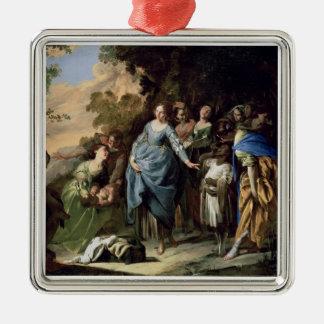 モーゼ、c.1650-56 (キャンバスの油)の見つけること メタルオーナメント